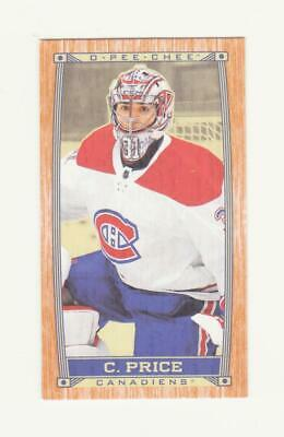 2019-20 O-Pee-Chee Carey Price Caramel Wood SP Parallel # C-30 (19-20) OPC