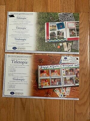 Creative Memories Titletopia  LoT -  Circle & Banner and Oval & Swirls