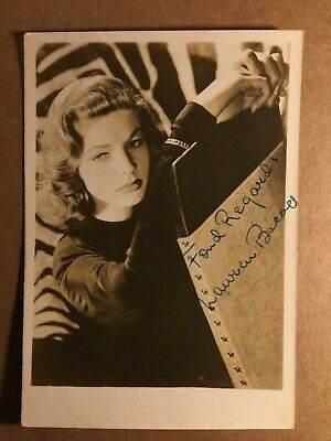 Lauren Bacall Stunning Rare Very Early Vintage Signed Photo 1945 From Big Sleep