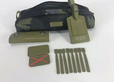 Tumi Accent Kit Accessory Pouch Luggage Tag Monogram Patch Green Camo