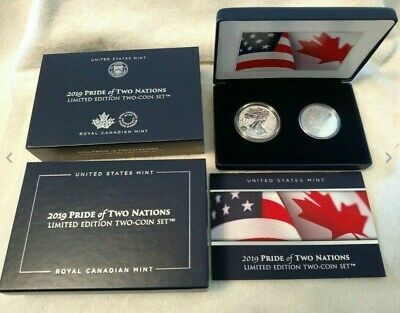 2019 Pride of Two Nations Silver Eagle Enhanced Reverse Proof Maple Leaf