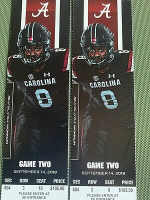 Alabama Vs. South Carolina Gamecocks Football Tickets