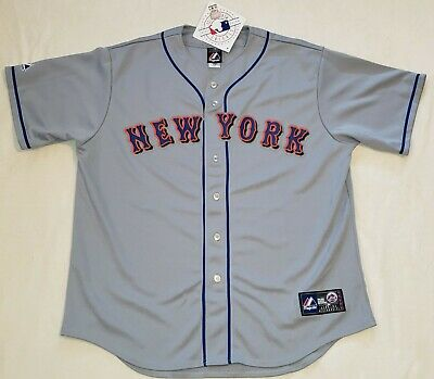 Majestic Men's New York Mets Authentic Gray Away Team Jersey Size XL NWT Stitch