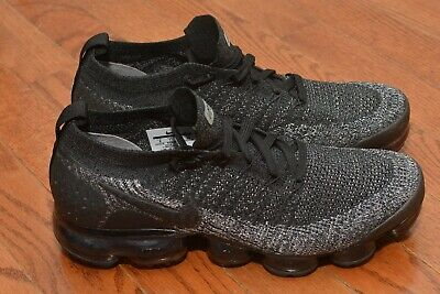 Nike Air VaporMax Flyknit 2 Running Shoes Black Grey 942842 012 Mens Size 8