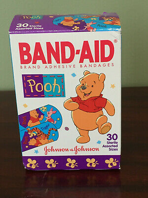 """""""Vintage"""" Winnie the Pooh Band-Aids From 1998: Box included!"""
