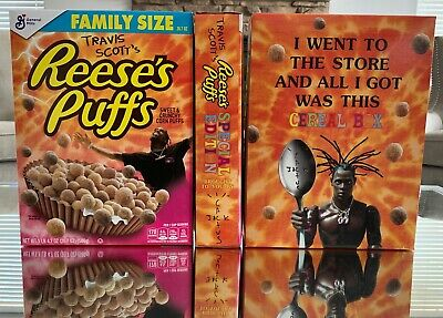 Travis Scott's Reese's Puffs Cereal Special Edition Family Size