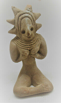 Ancient Indus Valley Harappan Terracotta Seated Fertility Idol