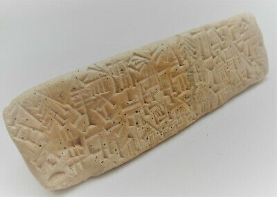 Ancient Near Eastern Clay Triangular Tablet With Early Form Of Writing 2000Bce