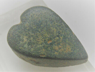 Ancient Byzantine Bronze Weight In The Shape Of A Loveheart