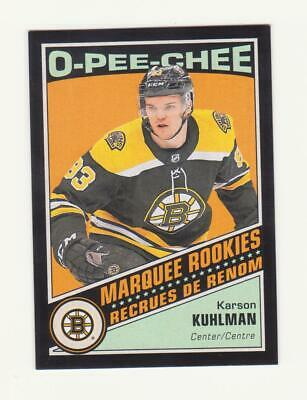 2019-20 O-Pee-Chee Karson Kuhlman Black Border Parallel RC # /100 (19-20) OPC