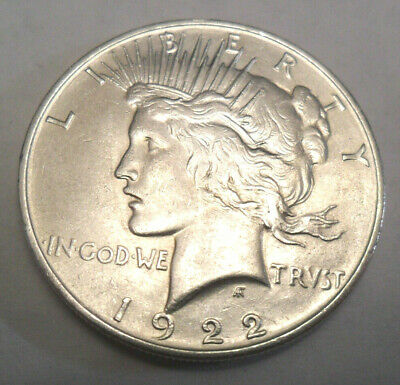 1922 P Peace Dollar  *90% Silver*  *Bu - Uncirculated*  **Free Shipping**