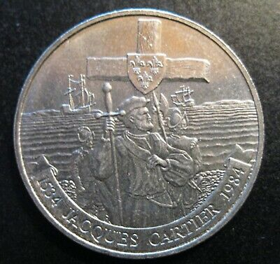 Canada Commemorative Jacques Cartier Dollar 1534-1984, Circulated  - SEE SCANS