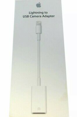 Apple Lightning to USB Camera Adapter MD821AM/A Model A1440 NEW Genuine