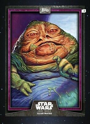 Topps Star Wars Card Trader CTI Illustrated PURPLE Jabba the Hutt
