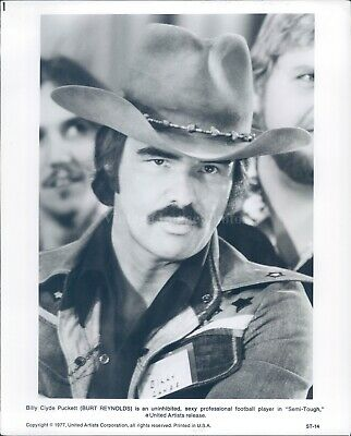 1977 Press Photo Burt Reynolds Actor Film Tv Star Football Player Handsome 8X10