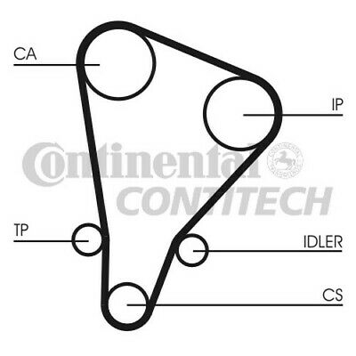 CT583 CONTITECH TIMING BELT (Toyota 1 8,2 0 Diesel 84-) NEW
