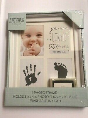 First Prints Baby Hand Print & Photo Frame Gift Box Includes Ink pad