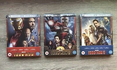 💥💥Steelbook Exclusif Iron Man 1+2+ 3 ZAVVI  - 4K Ultra HD (+2D) MARVEL💥💥