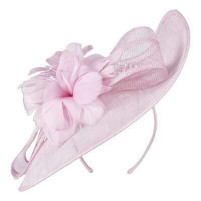 NEW Maria George Large Sinamay Headpiece With Trim By Spotlight