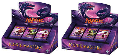 Iconic Masters MTG (Magic the Gathering) Factory Sealed 2 Box Booster Case