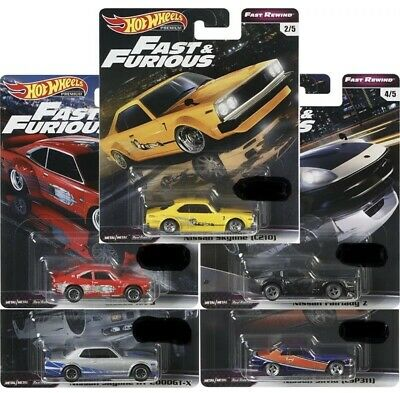 HOT WHEELS FAST AND FURIOUS 2019 RELEASE E FAST REWIND Set Of 5 *Pre-Order* NEW!
