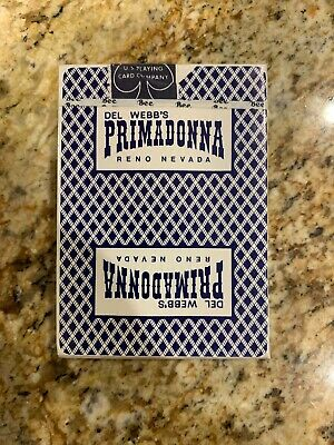1970's Unopened Sealed Deck of Del Webb's Primadonna Reno Casino Playing Cards