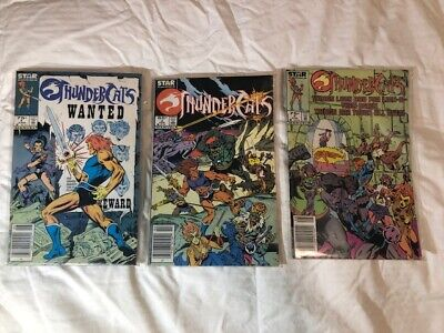 LOT of 3 STAR COMICS ThunderCats Comic Books GREAT CONDITION