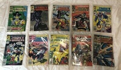 LOT of 10 Marvel Transformers Comic Books GREAT CONDITION
