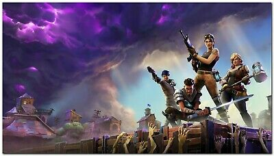New Fortnite Game Silk Wall Poster Size : 24x36 inches Free Shipping