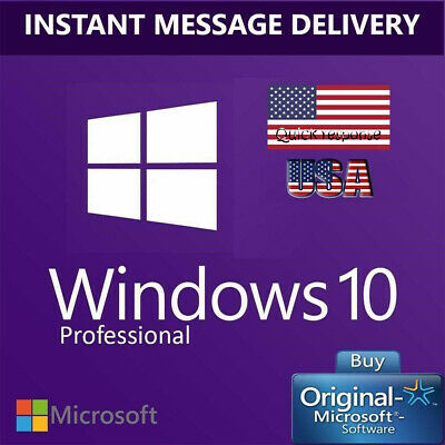 Windows 10 Pro Genuine Activation Key 32/64 bit Key License + Instant Delivery