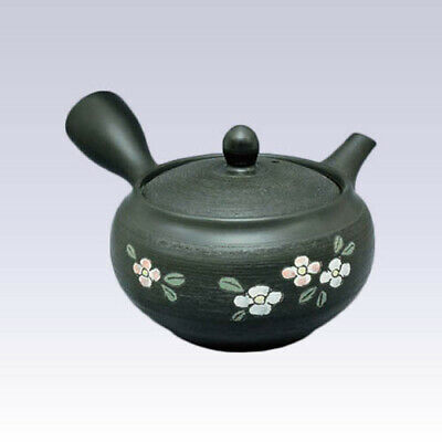 Tokoname Kyusu teapot - SHUNJYU - Pine Bark Flower - 340cc/ml - Refreshing steel