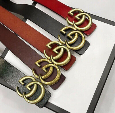Ladies Men Genuine Leather Belts Women Jeans Belt With G Buckle