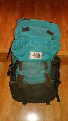 Vintage North Face TNF Hiking Day Pack Backpack Made In USA Brown Label Internal