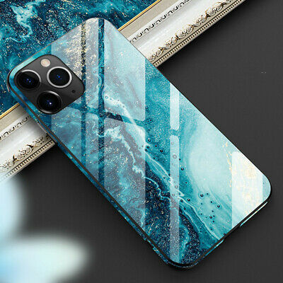 Tempered Glass Phone Case For iPhone 11 Pro Max Cover Luxury TPU Hard Cases New