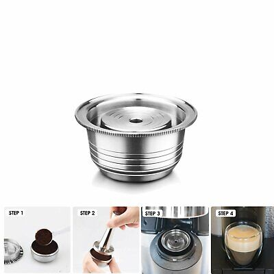 Stainless Steel Refillable For Nespresso Vertuo Coffee Pods Capsules 230ml