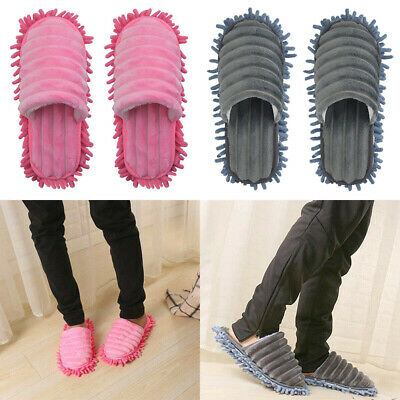 One Pair Mop Slippers Lazy Floor Foot Socks Shoes Quick Polisher Cleaning Dust