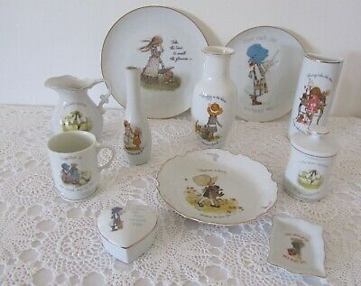 Genuine HOLLY HOBBIE Collectable Vases Plates Jugs Trinket Box Dish
