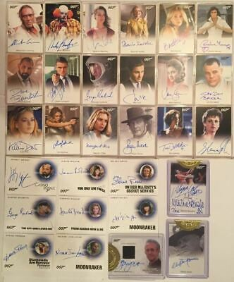 James Bond Archives Spectre Complete Autograph Card Set 29 Cards
