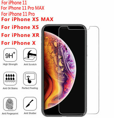 Premium HD Screen Protector Tempered Glass Film For iPhone X Xs Max XR 11 Pro CA