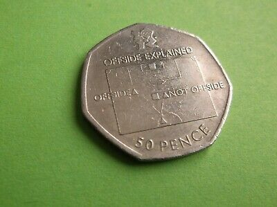 50Pence 2012 Olympic Offside Explained Football Used 50 P Circulated Coin