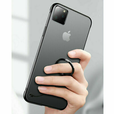 For iPhone 11 Pro Max Ultra Thin Frameless Back Case Transparent Matte Cover New