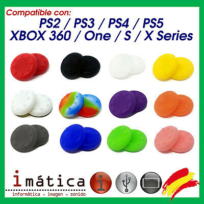 X2 Unidades Grips Joystick Ps4 Playstation 4 3 2 Goma Protector Xbox One 360