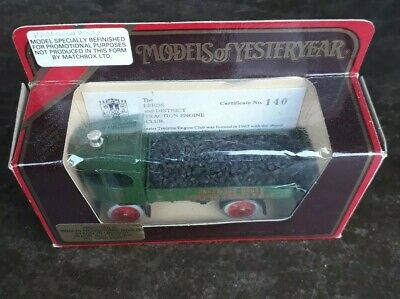 Matchbox Models Of Yesteryear. Y-8 1917 Yorkshire Steam Wagon Promotional Model