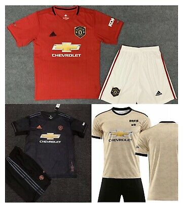 19/20 Football Kids Soccer MU Away Home Youth Adult Soccer Training Suit Kits