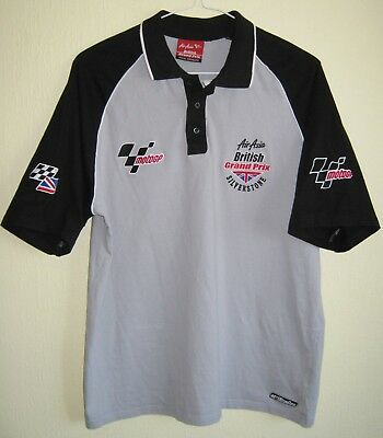 Moto GP Silverstone motorcycle polo shirt size L (official merchandise)