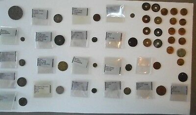 Large Group 40 Antique & Ancient Mostly Pierced World Coins