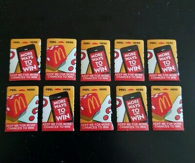 "10 Mcdonalds Monopoly 2019 * Unclaimed * Tokens, This Is A ""Mystery"" Listing New"