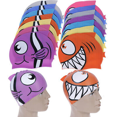 1XProworks Swimming Cap Waterproof Silicone Swim Pool Hat for Kids Boys Girls<i