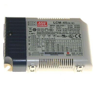 MEAN WELL LCM-40 LED Driver 200-240V