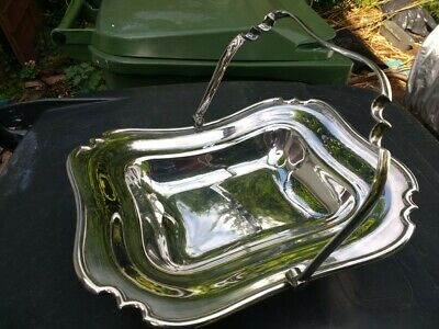Serving Dish, Electro Plated Nickel Silver plate, with handle